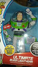"NEW Buzz Lightyear Ultimate Voice Command 16"" RC Robot Toy Story"