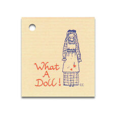 50 SMALL*WHAT A DOLL* HANG TAGS & STRINGS, PRICE GIFT COUNTRY CRAFTS RAGDOLL