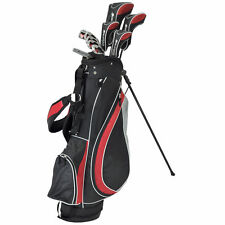 "ORLIMAR TALL MENS +1"" FIRELINE GOLF CLUB SET wBAG+DRIVER+3WD+HYBRIDS+6-PW IRONS"