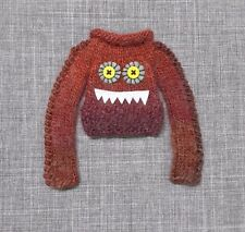 MIDDIE BLYTHE CLOTH RED MONSTER SHORT DRESS SWEATER EXTRA LONG SLEEVES OUTFIT