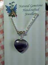 AMETHYST HEART PENDANT & SILVER PLATED CHAIN [8/4/11]