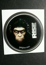 "RISE OF THE PLANET OF THE APES PLAIN FACE MOVIE SM 1.5"" GET GLUE GETGLUE STICKER"