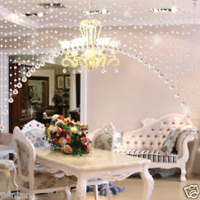 1 Meters Glass Crystal Clear Beaded Hanging Curtain String Beautiful Solid New