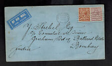 1929 london England First Flight Cover to Karachi India FFC Imperial Airways