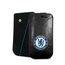 Chelsea FC Official PU Leather Phone Pouch Large - New Universal