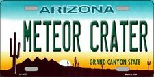 Meteor Crater Arizona State Background Novelty Metal License Plate Tag