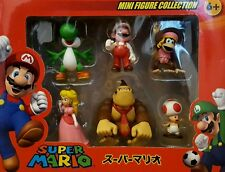 SUPER MARIO BROS FIGURES SET MARIO PRINCESS PEACH YOSHI DONKEY KONG DIDDY KONG