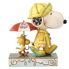 Jim Shore PEANUTS Figurine Snoopy & Woodstock Rainy Day Gifts Ornament 4055654