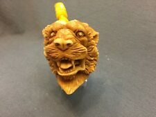 TIGER PIPE BY KARAHAN -BLOCK MEERSCHAUM-NEW-HAND CARVED-FROM TURKEY