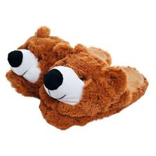 Kids Cuddlee Slippers - Teddy Bear - Fits Most Ages 9-12