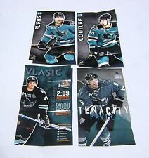 Lot (4) 2012 -15 San Jose Sharks Schedule Posters Couture Burns Vlasic Pavelski