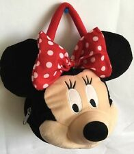"DISNEY MINNIE Mouse Purse Face Polyester Mickey 9""  Big Bow"