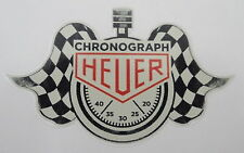 Aufkleber CHRONOGRAPH HEUER Motorsport Oldtimer Youngtimer Sticker Tag MEDIUM