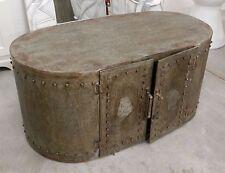 Mobile metallo tavolino porta tv mobiletto industrial borchiato moderno vintage