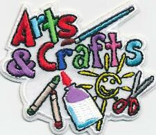 Girl Boy ARTS AND CRAFTS *White Fun Patches Crests Badges SCOUT GUIDE crafting
