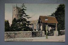 R&L Postcard: 1914 St Peters Church Tiverton, JWS J Welch