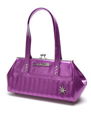 Lux de Ville Starlite Kiss Lock Handbag - Discontinued - Purple Sparkle
