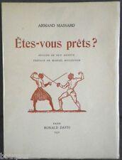 ESCRIME Massard Etes-vous prêt ? Ill. Guy ARNOUX 1/30 Ex. de Tête sur Japon 1931