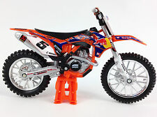 RYAN DUNGEY REDBULL KTM SXF450 1:18 Die-Cast Motocross MX Toy Model Bike Orange