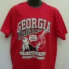Georgia Bulldogs Red T-Shirt Adult XL Finger Talking Free Shipping