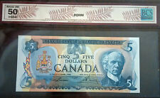 1979 $5 Bank of Canada Lawson-Bouey Note Certified BCS-AU50