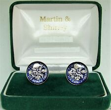 1967 6D cufflinks from real coins in Blue & Silver
