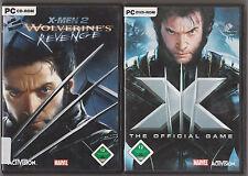 X-MEN 2 wolverine's revenge + x men the official GAME COLLECTION Jeux pc