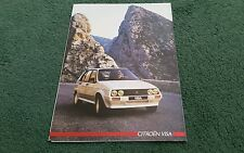 July 1985 / 1986 CITROEN VISA inc GTi 17D 17RD 14TRS 11 - FRENCH FOLDER BROCHURE
