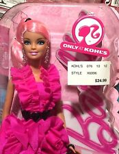 Pinktastic Barbie Kohl's Exclusive Pink Hair Hot Pink Ruffled Mini Dress