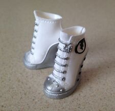 NEW Monster High Doll Frankie Stein I Heart Fashion White High Heel Tennis Shoes