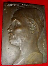 MED2837 - PLAQUE DE BRONZE PASTEUR par BOURGOUIN 1912 - FRENCH MEDAL