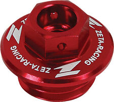 ZETA Red Oil Filler Plug For Yamaha YZ 250 F 450 F 01-16, CRF 250 450 R 02-16