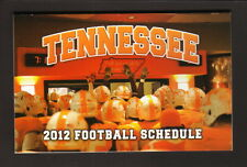 2012 Tennessee Volunteers Football Schedule--TRH Health Plans