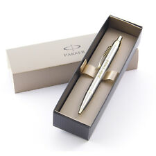 Personalised Engraved Parker IM Ballpoint Pen - Brushed Metal Gold Trim - Great