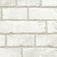 Self Adhesive Real White Brick Wall Pattern Peel Stick Contact Point Wallpaper
