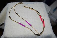 Trina Turk Tube Colored Station Long Necklace NWT $98