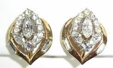CROWN TRIFARI PHILIPPE FLIRTATION 1953 AD PC PAT PEND 170225 RHINESTONE Earrings