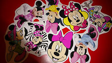 50 MINI MINNIE MOUSE VINYL STICKERS PARTY BAG FILLERS