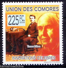 Comores MNH, Thomas Edition, USA, Inventions contributed to mass communic - In16