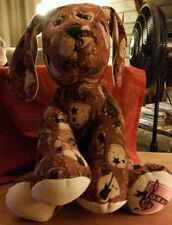 """Build A Bear 13"""" Seated Dog Brown JONAS BROTHERS Sitting CUTE  Pre-loved"""