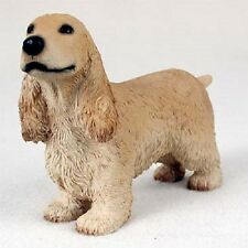 English Cocker Spaniel Dog Hand Painted Figurine Statue Collectible Blond puppy