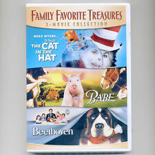 3 family movies Dr. Seuss Cat In The Hat, Babe, Beethoven, new DVD Mike Myers
