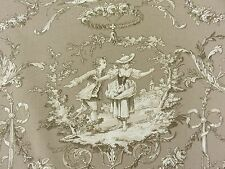 SUPERB TOILE DE JOUY COTTON FABRIC RICHLOOM SWEET WILLIAM STYLE DOUBLE WIDTH