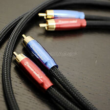 TA-301 Snake Black Golden Plated Audiophile RCA to RCA Hi-Fi Cable 1meter Pair U