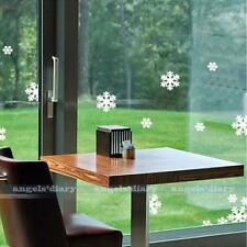 White Snowflake Wall Sticker Wallpaper for Home Glass Window Door Decals Decor