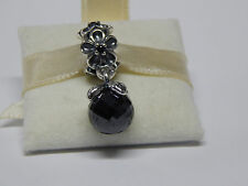New Pandora 790858SPB Charm Garden Odyssey Black Spinel Crystal Box Included