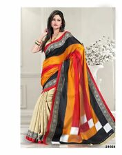 Semi formal office party wear Bagalpuri cotton silk mix designer saree