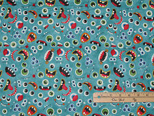 Stonehenge Monsters Glow in the Dark EYES Northcott Fabric by the 1/2 Yd #39330G