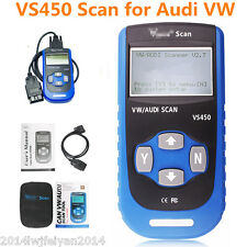 VS450 OBDII VAG Code Reader Diagnostic Scanner Com Reset Airbag Tool For Audi VW