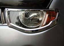 Chrome Headlight SURROUNDS for Mitsubishi L200 headlamp animal warrior 2005+